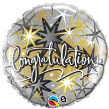 "Congratulations Elegant Foil Balloon (18"") 1pc"